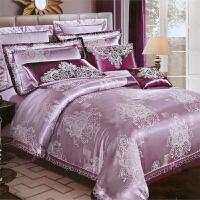 【包邮】伊迪梦家纺 怡丝绵贡缎提花绗缝夹棉床上用品 床单床罩床盖一体款 四件套六件套七件套OKM101