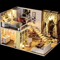男女孩diy小屋儿童木质3d立体拼图手工制作房子模型玩具惊喜的创意节日礼品