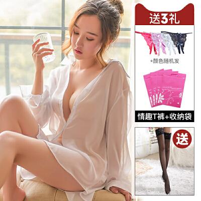情趣内衣大码透明情趣睡衣开档丝袜激情挑逗用品性感制服套装女骚