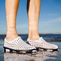 凉拖鞋潮男士透气外穿漂流鞋夏季防滑室外凉鞋韩版沙滩鞋洞洞鞋男