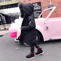 童装男童冬装羽绒服中长款2018新款中大童儿童棉袄外套连帽真毛领