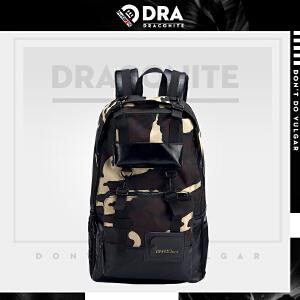 DRACONITE韩版潮牌迷彩电脑旅行背包休闲街头双肩书包男11422A