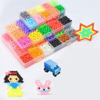 水雾神奇魔法珠儿童3-6周岁男孩女孩水珠拼豆豆拼图玩具套装
