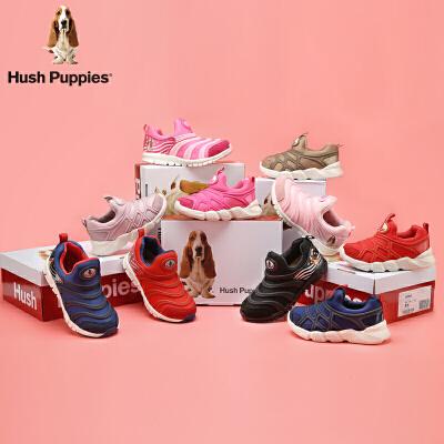 暇步士Hush Puppies童鞋18冬季新款儿童运动鞋男女童毛毛虫天鹅绒休闲鞋 (0-10岁可选) DP9160d【12.10-12.12】限时2件3折 可叠加优惠券
