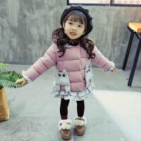 女宝宝冬装棉衣外套1女婴2女童3岁中长款加厚婴儿童羽绒洋气4