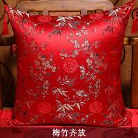 中式抱枕红木沙发靠垫枕芯茶椅腰枕复古办公室靠背套绣花