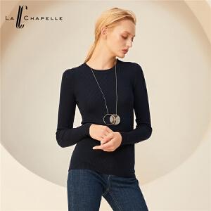 【7折价152元】全羊毛针织衫女2018新款韩版套头薄款长袖修身毛衫纯色毛衣