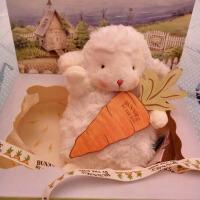 抖音小羊公仔毛绒玩具礼盒玩偶绵羊迷你同款小坐羊羔治愈生日礼物