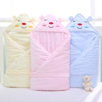 阳光菊 新生儿抱被宝宝加厚秋冬钻石绒抱毯 新生儿童包巾婴儿用品