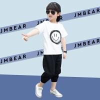 木木屋2021夏季新款男童运动休闲套装中大童夏季潮流韩版帅气