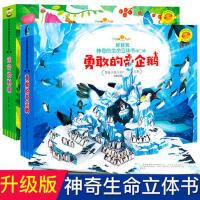 远行的刺猬/勇敢的帝企鹅2册 好好玩神奇生命立体书第二辑儿童3d立体书翻翻书洞洞书籍0-3-6周岁幼儿绘本读物启蒙认知