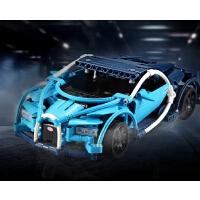 兼容布加迪威龙积木车遥控模型乐拼装电动跑车益智玩具