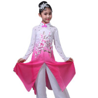 女童古典舞蹈民族舞蹈演出服女孩伞舞扇子舞表演服装