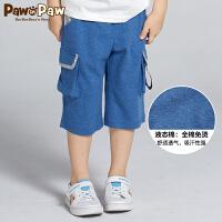 【1件5折 到手价:179】Pawinpaw卡通小熊童装夏男童多色多口袋休闲宽松运动短裤子
