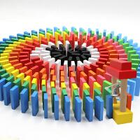 大号木制机关力积木玩具多米诺骨牌1000片儿童比赛标准