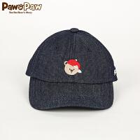 【3件2折 到手价:40】Pawinpaw宝英宝卡通小熊童装男女童棒球帽鸭舌帽儿童帽子