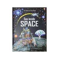 顺丰发货 英文原版进口绘本 Usborne See Inside Space 看里面翻翻书系列 太空 纸板书 儿童科普