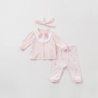 [2件3折价:96]戴维贝拉春装新款婴幼儿卡通三件套套装DBH10020