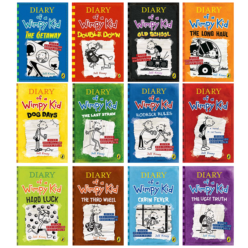 小屁孩日记英文原版12册+2019年新作13册全套 Diary of a Wimpy Kid/an Awesome Friendly Kid 廖采杏推荐Jeff Kinney 儿童章节小说故事书