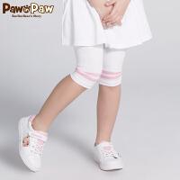 【3件3折 到手价:59】Pawinpaw卡通小熊童装夏款女童打底裤五分裤
