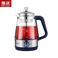 金正1L煮茶器黑茶普洱玻璃电热水壶蒸茶壶全自动保温蒸汽电煮茶壶