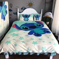 儿童床上用品卡通加厚水晶绒冬季保暖单人三件套被套床裙款四件套