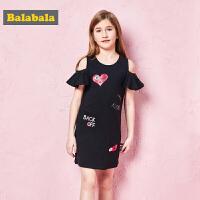巴拉巴拉童装夏装2018新款儿童公主裙女童淑女连衣裙中大童裙子女