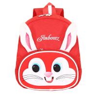 小学生1年级幼儿园大班3-6岁儿童书包卡通可爱兔子超轻双肩背包潮 红色 大红