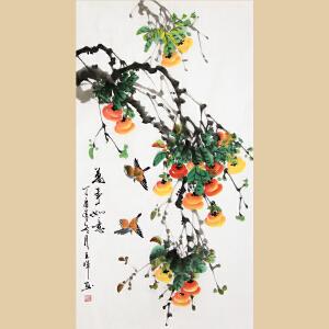《万事如意》广西美协会员,桂林美术学校中国画教研室主任王晖【真迹1100】
