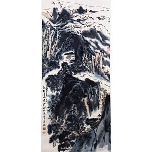 陆俨少《山水1114》纸本立轴