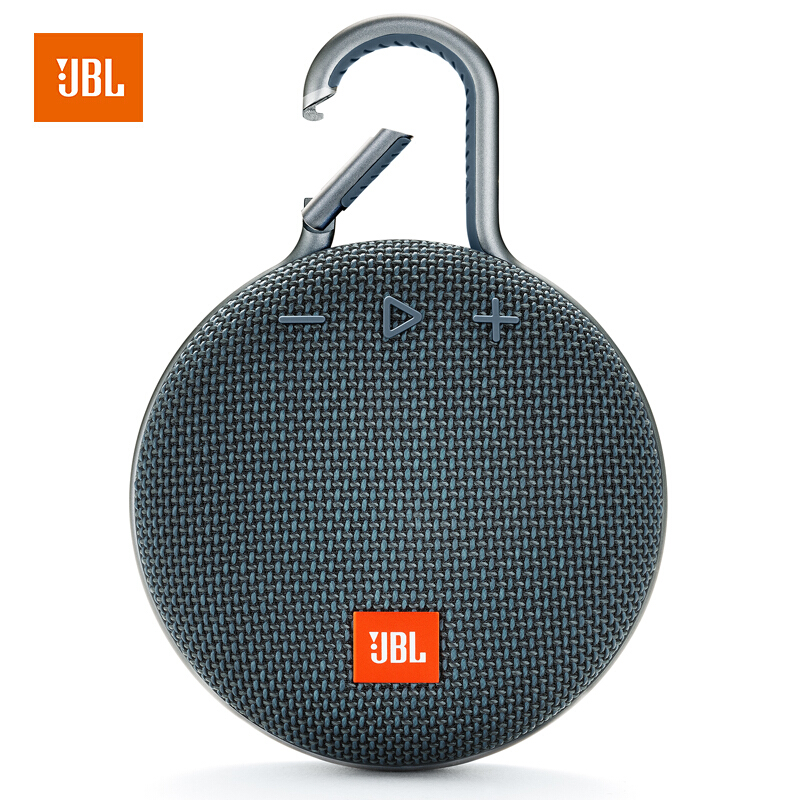 【当当自营】JBL Clip3 深海蓝 音乐盒三代 蓝牙便携音箱 低音炮 户外迷你小音响 防水设计 高保真无噪声通话 超长续航
