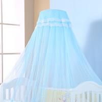 婴儿床蚊帐带支架宝宝通用婴儿蚊帐宫廷落地公主风儿童蚊帐罩