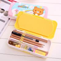 文具盒 男女多功能三层铅笔盒学生儿童笔盒套尺