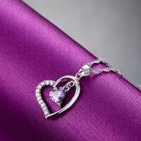 情人节礼物送女朋友925银饰项链 短款锁骨链百搭配饰