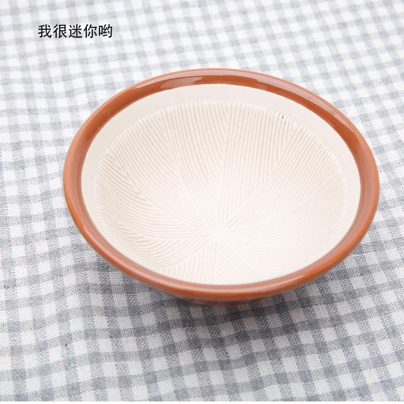 陶瓷磨蒜器研磨碗婴儿辅食碗火锅用碗料盘料碗 磨药器陶瓷研磨碗M