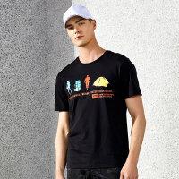 【下单即享7折优惠】TFO 新款时尚图案 亲肤棉质 不起球不起皱 男款短袖休闲运动T恤