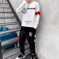 男士卫衣套装新款秋季休闲帅气一套运动服韩版潮流两件套学生衣服TZ158.