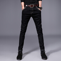 Lee Cooper春夏新款商务牛仔裤男士潮牌修身小脚长裤子韩版潮流直筒牛仔裤男