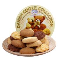 马来西亚进口 麦阿思小熊松脆曲奇饼干400g