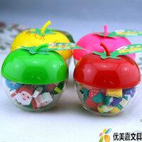 圣诞节儿童礼物 平安夜 圣诞老人水果可爱大苹果橡皮擦 学生奖品