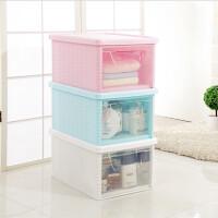 【满200减100】收纳箱 置物盒 自由组合衣箱 置物架 塑料储物柜抽屉式 收纳柜家用整理柜