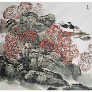 河北省美术家协会副主席 白云乡 国画《山水》