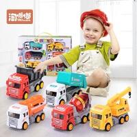 宝宝玩具车男孩回力车惯性车工程车儿童挖掘小汽车套装3-4-5-6岁