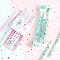 韩国小清新唯美樱花中性笔可爱学生签字笔水笔0.5黑笔3支/6支套装