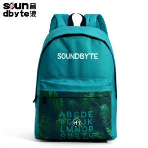 【支持礼品卡支付】soundbyte夏季韩版书包男女学院风双肩书包帆布休闲电脑背包