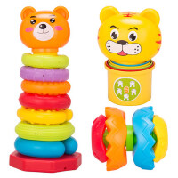 宝宝叠叠乐彩虹塔1-3岁婴幼儿童早教智力套杯圈玩具0-6-9-12个月