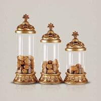 干花罐储物罐 欧美风格结婚礼品玻璃摆件 家居实用装饰品