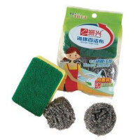 振兴 百洁布钢丝球三件套CXM007锅刷 钢丝球 清洁球