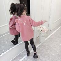 冬季女童外套呢子大衣秋冬装2019新款韩版儿童女孩中长款毛呢洋气潮衣秋冬新款