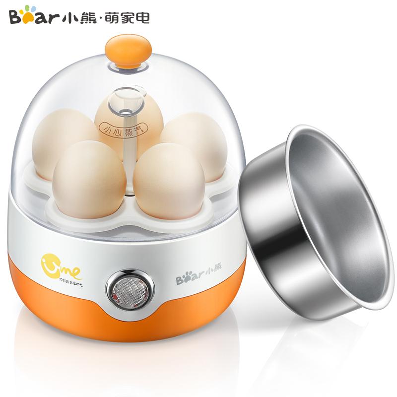 小熊(Bear)煮蛋器 不锈钢蒸蛋器 煮蛋机 ZDQ-2201自动断电 不锈钢碗 均点蛋托